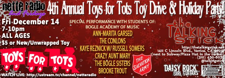 Fourth Annual NetteRadio Toys for Tots Toy Drive at The Talking Stick